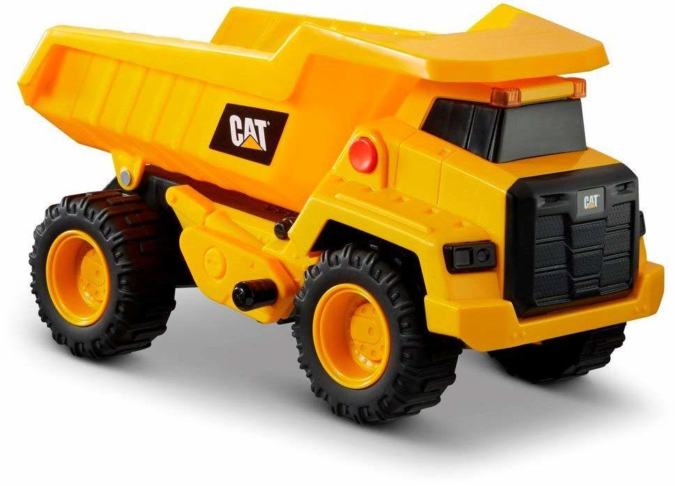 Caterpillar by Funrise 82266 Caterpillar, CAT Power Haulers Kipper pojazd budowlany, żółty, czarny