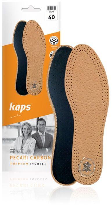 Wkładki do butów ze skóry owczej. Pecari Carbon