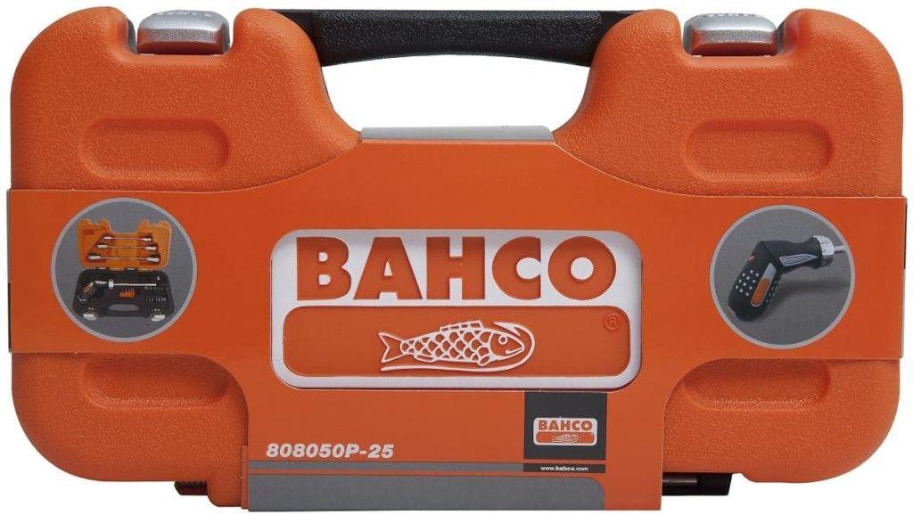 zestaw kluczy grzechotkowych z wkętakiem pistoletowym i końcówkami 1/4'', 25szt. BAHCO [808050P-25]