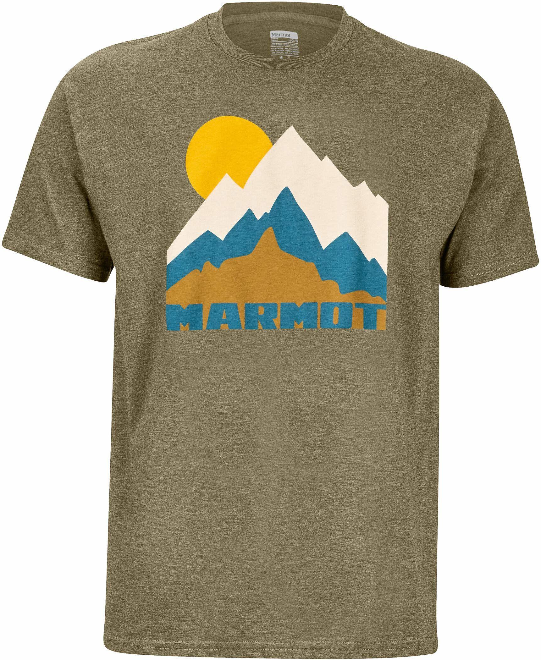 Marmot Męski T-shirt Tower T-shirt męski zielony Olive Heather S