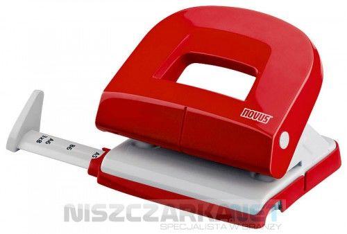 Dziurkacz biurowy NOVUS E 216 - czerwony