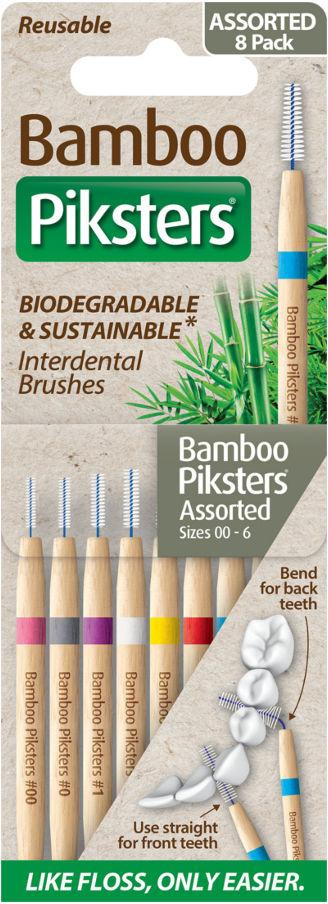PIKSTERS BAMBOO Original 8szt. - zestaw startowy naturalnych szczoteczek międzyzębowych
