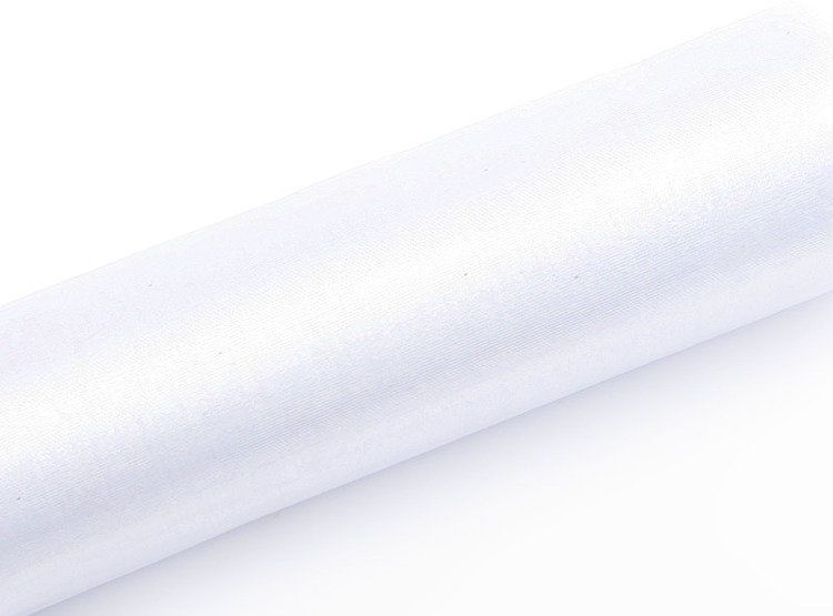 Organza biała 16cm x 9m 1 rolka ORP16-008
