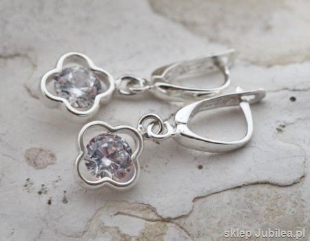 Yatomi - srebrne kolczyki z cyrkonią glamour
