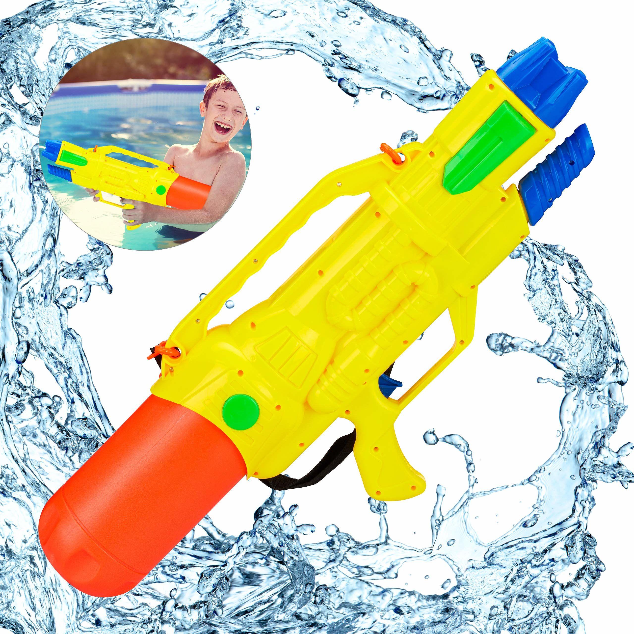 Relaxdays Pistolet na wodę, zbiornik na wodę 1,8 l, zasięg 10 m, do pompowania, dla dzieci i dorosłych, pistolet natryskowy, kolorowy