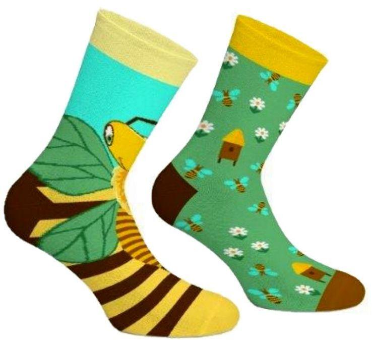 Bee Paradise, Todo Socks, Pszczoły, Miód, Kolorowe Skarpetki