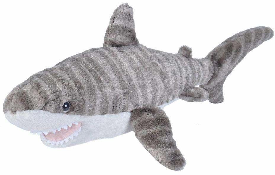 Wild Republic Pluszowa miękka zabawka z tygrysem rekin, przytulanki zabawki, prezenty dla dzieci 20 cm