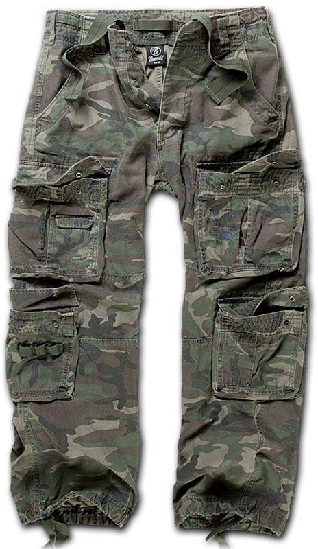 Spodnie wojskowe Brandit Pure Vintage Woodland (1003-10)