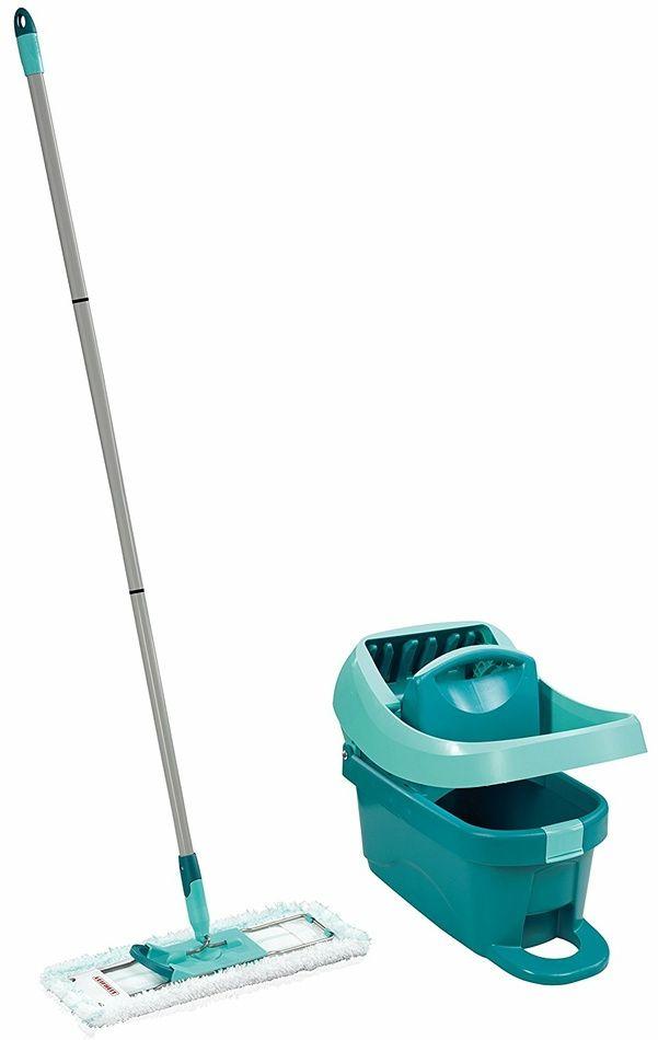 Leifheit Profi zestaw do sprzątania mop z wiadrem i wyciskaczem dźwigniowym