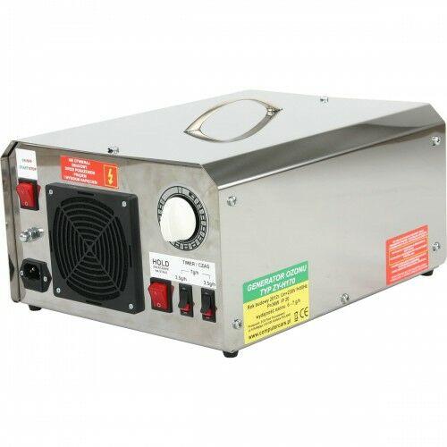 Wielofunkcyjny generator ozonu, wyłącznik czasowy, wydajność 6 - 7 g/h