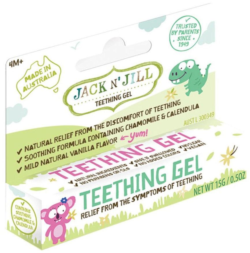 JACK N''JiLL Teething Gel 15g - żel na ząbkowanie, skutecznie łagodzi ból i podrażnienia dziąseł