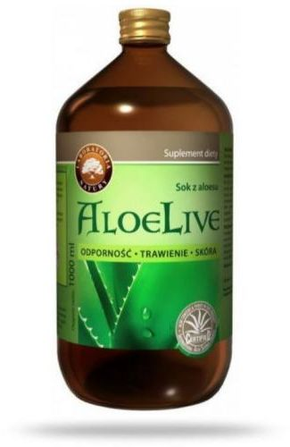 AloeLive Odporność Trawienie Skóra sok z aloesu 99,7% 1000ml