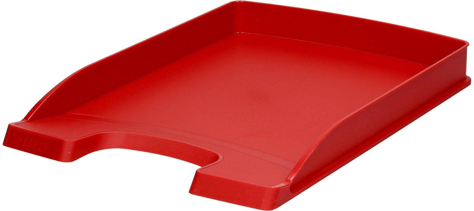Półka dokumenty A4/wys37mm czerwona Slim Leitz