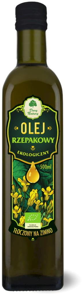 Olej rzepakowy virgin bio 500 ml - dary natury