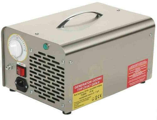 Wielofunkcyjny generator ozonu do klimatyzacji, wydajność ozonu: 6 - 7 g/h, elektrody odporne na wstrząsy i uderzenia