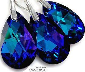 NAJNOWSZE Kryształy przepiękne kolczyki+wisiorek
