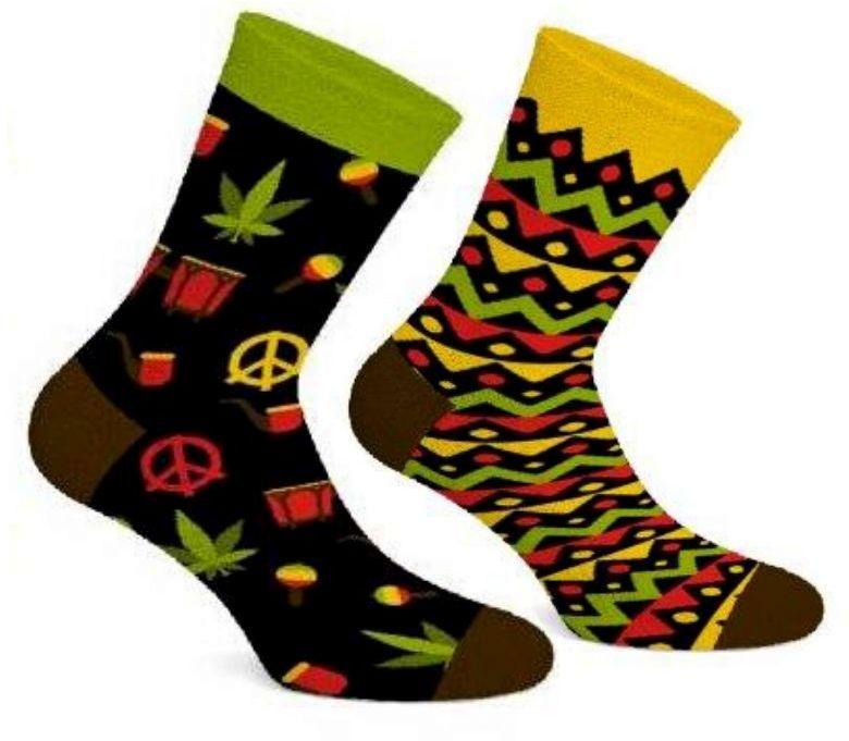 Jamaican Socks, Todo Socks, Rasta, Reggae, Kolorowe Skarpetki