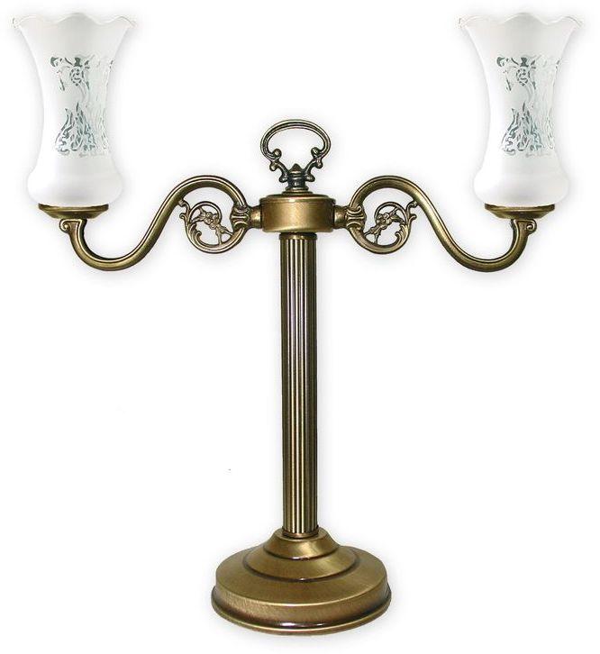 Retro Plus lampka stołowa 2 pł. / patyna