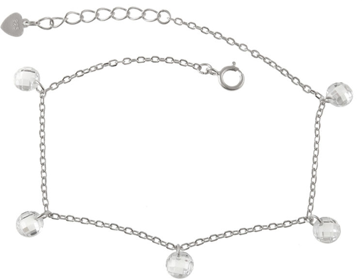 Srebrna bransoletka 925 z białymi cyrkoniami 1,9 g
