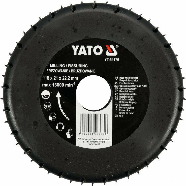 Frez tarnikowy do drewna 118mm Yato YT-59176 - ZYSKAJ RABAT 30 ZŁ