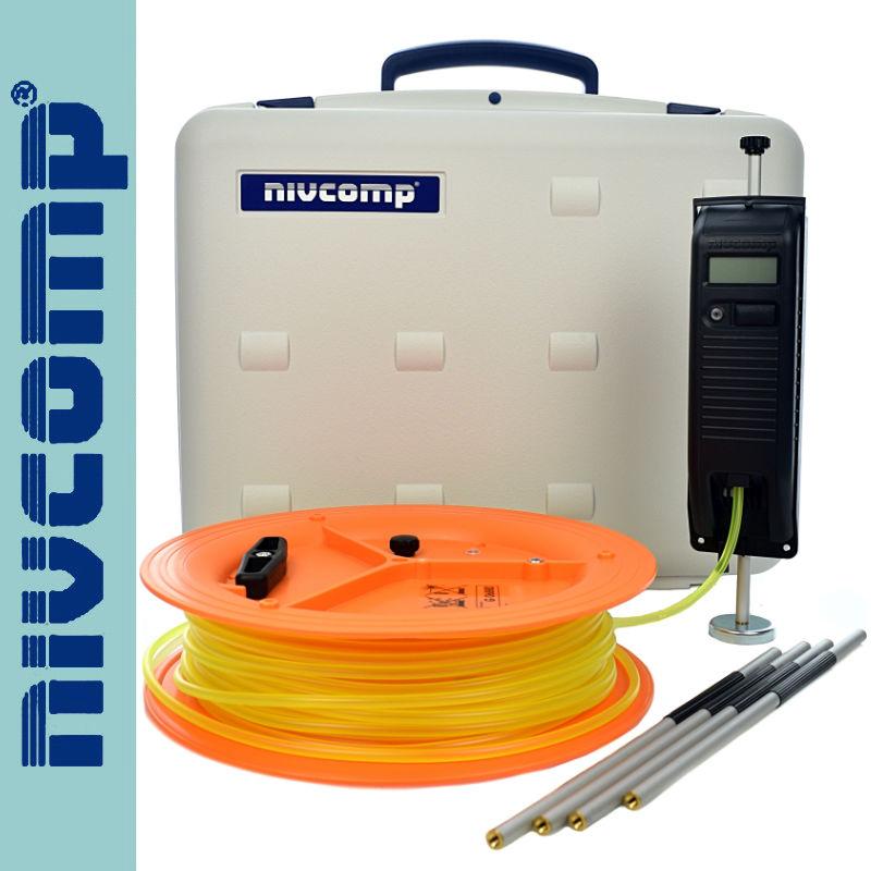 Nivcomp Poziomnica wężowa elektroniczna nivcomp H-25-PRO z tyczkami