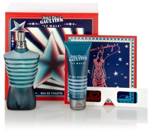 Jean Paul Gaultier Le Male żel do kąpieli 75ml + okulary 3D + woda toaletowa - 75ml Do każdego zamówienia upominek gratis.