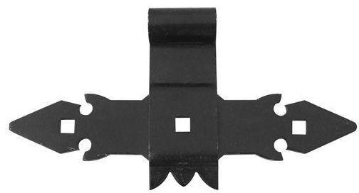 Zawias krzyżowy 280 x 140 mm 16 mm przykręcany czarny