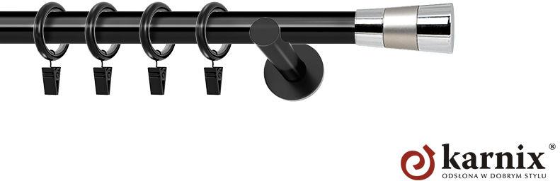 Karnisze nowoczesne NEO pojedynczy 19mm Doris czarny