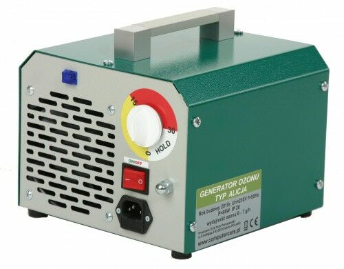 Generator ozonu do klimatyzacji, wydajność ozonu: 10 g/h, elektrody odporne na wstrząsy i uderzenia