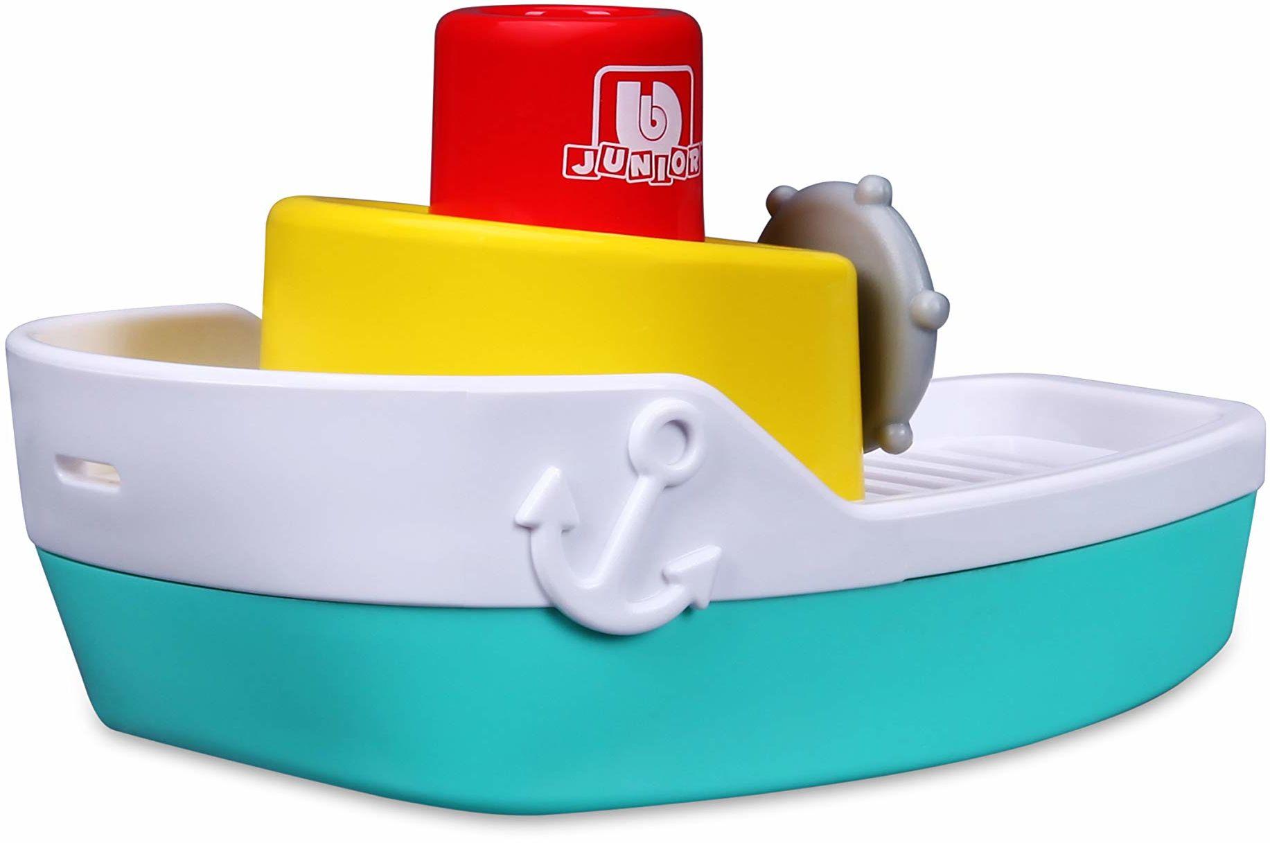 Bauer Spielwaren 16-89003 Spraying Tugboat łódź zabawkowa z funkcją spryskiwania wody, niebieski