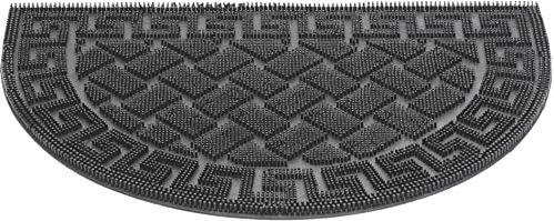 HMT 339207 wycieraczka gumowa, 60 x 40 x 1,0 cm, czarna