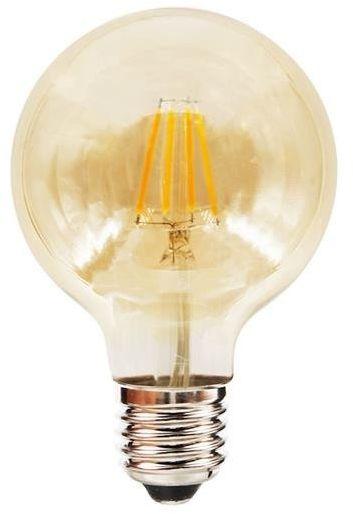 Żarówka dekoracyjna E27 G80 FILAMENT LED 6W ciepła 2700K