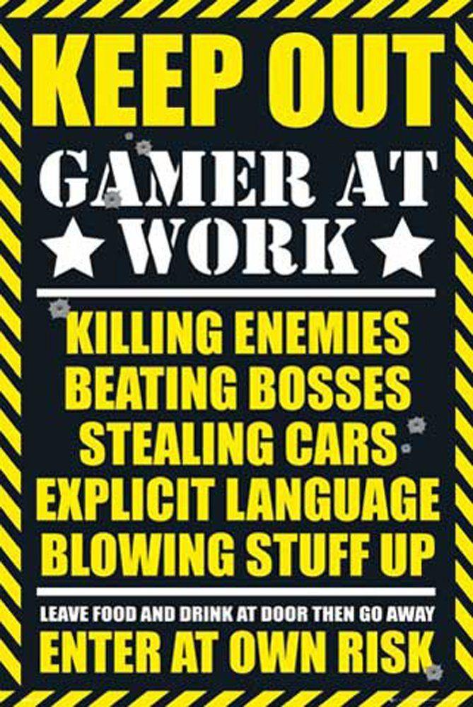 Plakat do gier ''Keep Out'' + artykuł akcesorium ohne Rahmen