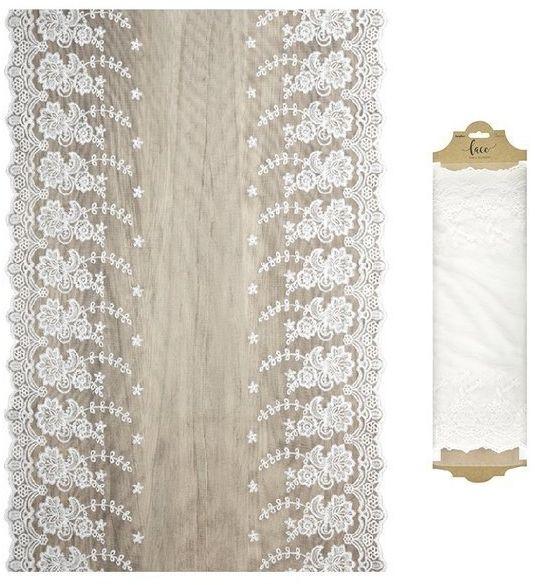 Koronka dekoracyjna na rolce złamana biel 0,45 x 9m KOR45-2-008Z