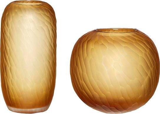 Wazony hübsch duże pomarańczowe szklane 2 szt.