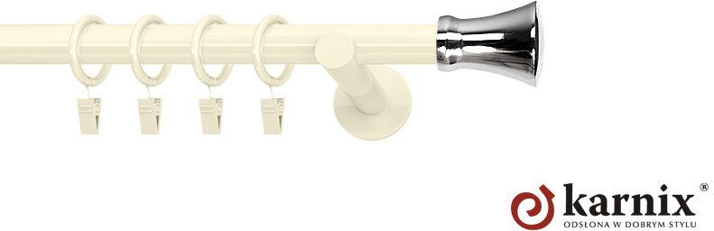 Karnisze nowoczesne NEO pojedynczy 19mm Monaco ivory (kość słoniowa)