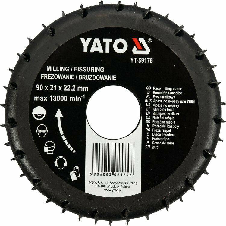 Frez tarnikowy do drewna 90mm Yato YT-59175 - ZYSKAJ RABAT 30 ZŁ