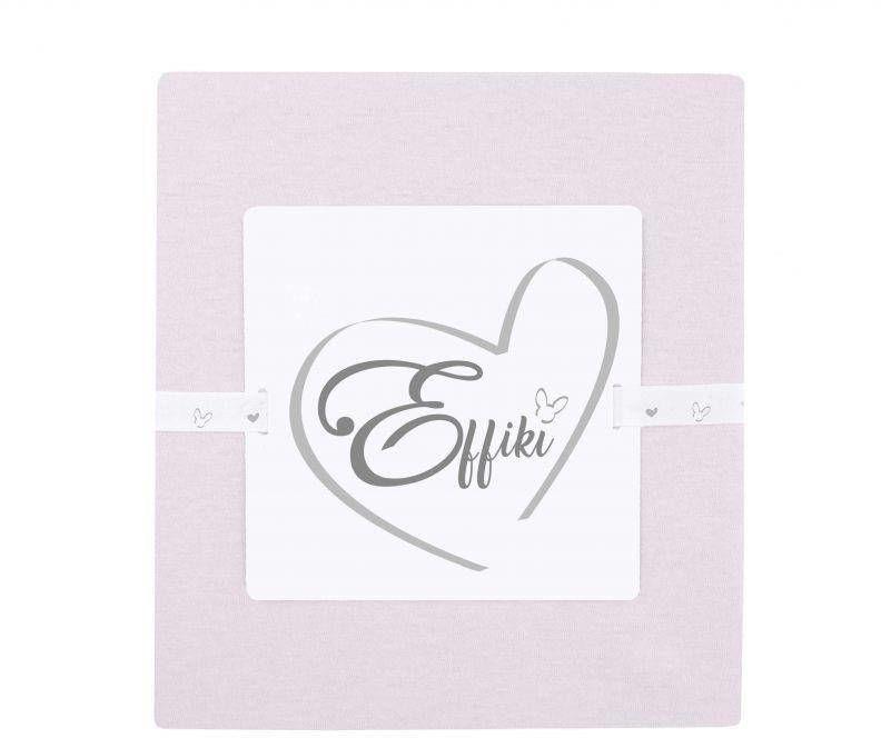 Effiki - Prześcieradło na przewijak i do wózka 100% bawełny pudrowy róż
