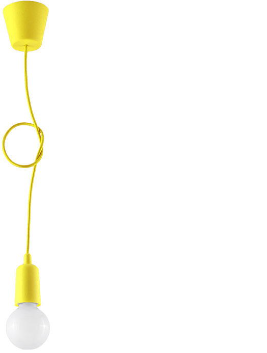 Lampa wisząca DIEGO 1 żółta - Sollux