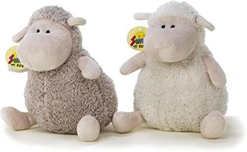 Sunny Toys 30773 - pluszowa owca, około 20 cm, 2 kolory posortowane