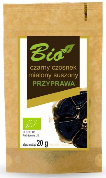 Czarny czosnek mielony suszony bio 20 g - przetwory z natury