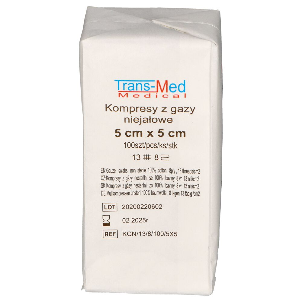 Kompresy z gazy niejałowe Trans-Med