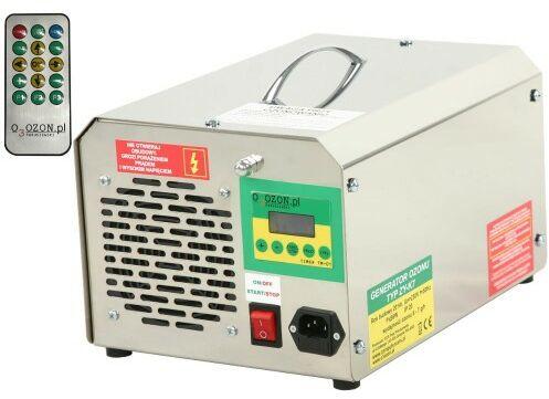 Wielofunkcyjny generator ozonu do klimatyzacji z pilotem, wydajność ozonu: 7 g/h, elektrody odporne na wstrząsy i uderzenia