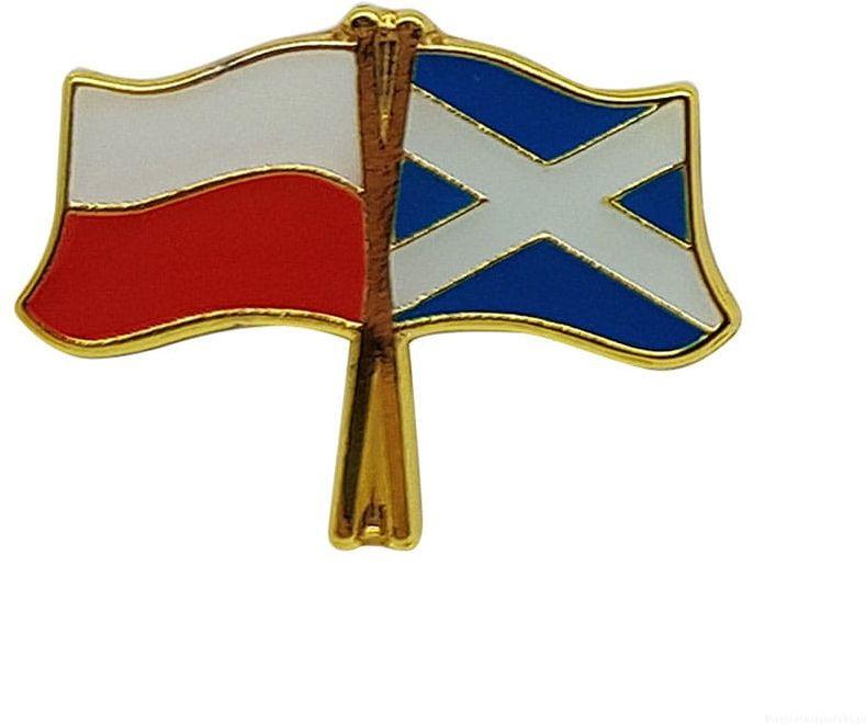 Flaga Polska-Szkocja - przypinka