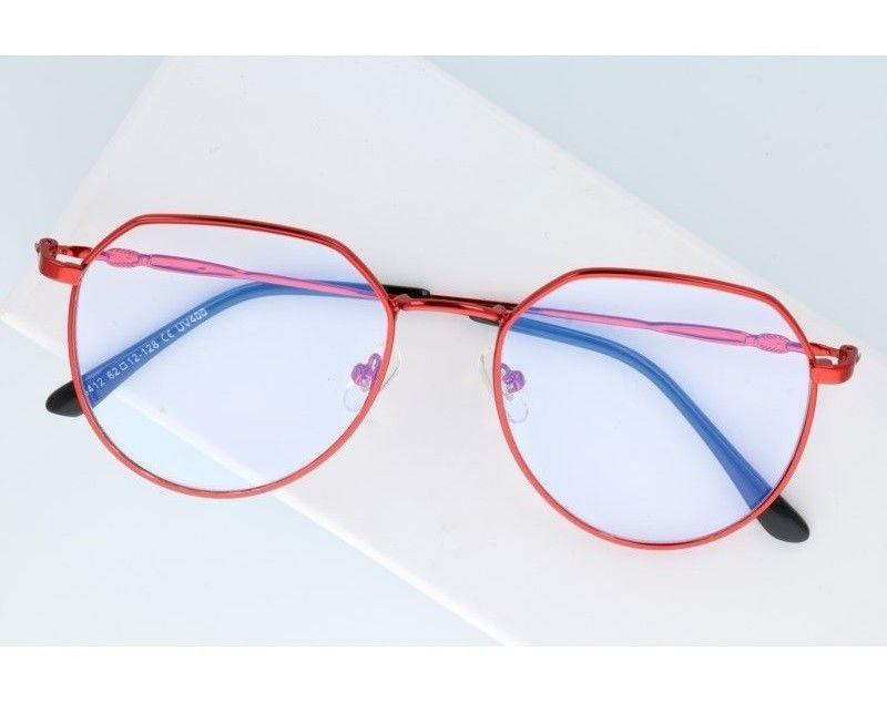 Okulary Lenonki z filtrem światła niebieskiego do komputera zerówki 2537-4