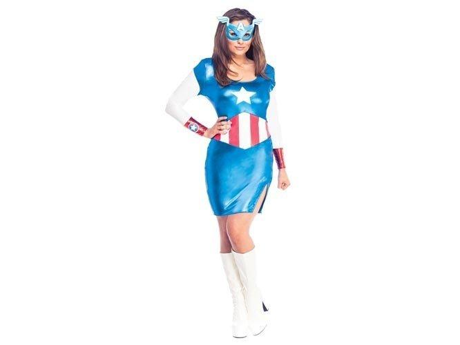 Kostium Kapitan Ameryka dla kobiety - Roz. XS