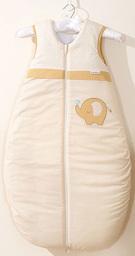 MAMO-TATO Śpiworek niemowlęcy do 18 m-ca haftowany Słonik biszkoptowy