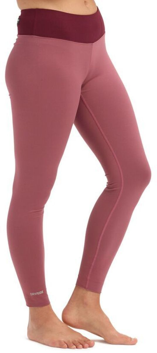 bielizna termoaktywna damska - spodnie BURTON MIDWEIGHT PT Rose Brown/Port Royale