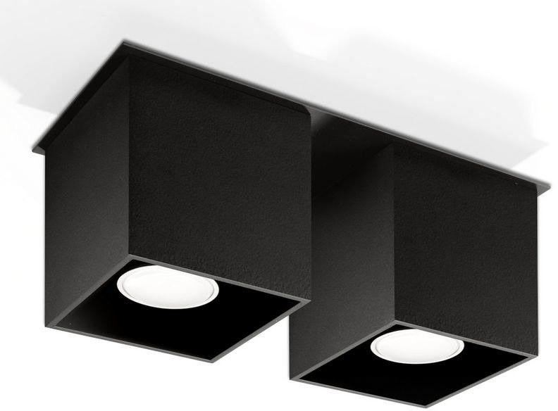 Sollux - plafon quad 2 - czarny