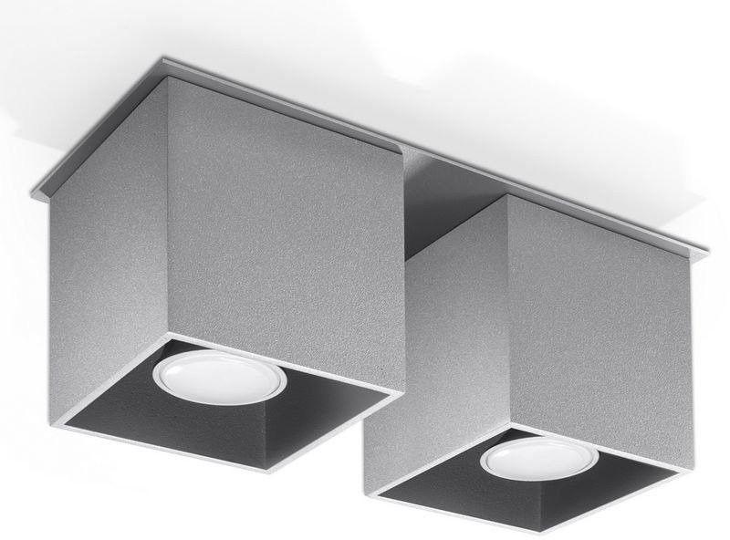 Sollux - plafon quad 2 - szary